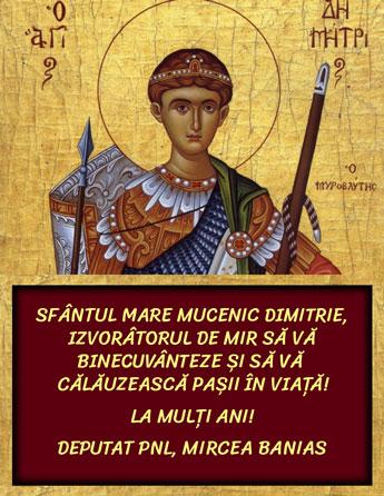 banner-Mircea-Banias-deputat-PNL-sfantul-mare-mucenic-Dimitrie-izvoratorul-de-mir-21-octombrie-2020