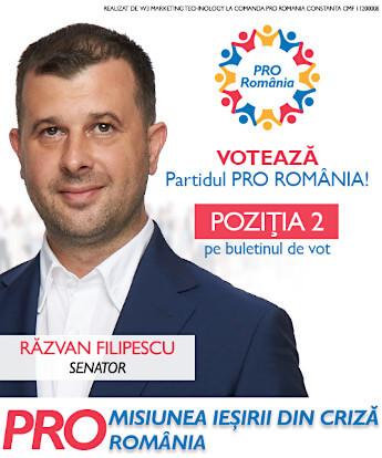 Razvan Filipescu senator Pro Romania
